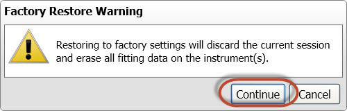 Screen shot 4 Restore Warning