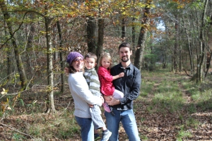 Ryan with his wife, Katharine, and two children: Evan (6) and Lila (4).